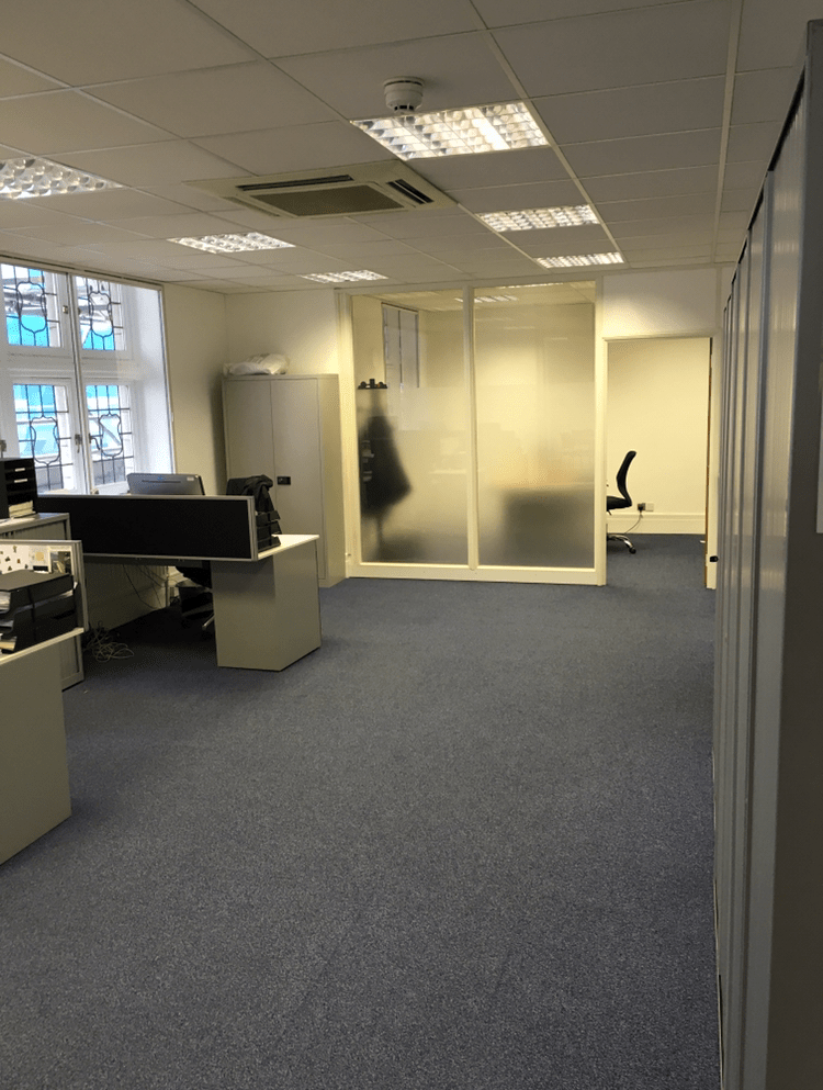 Commercial Carpet & Glass Partition Install