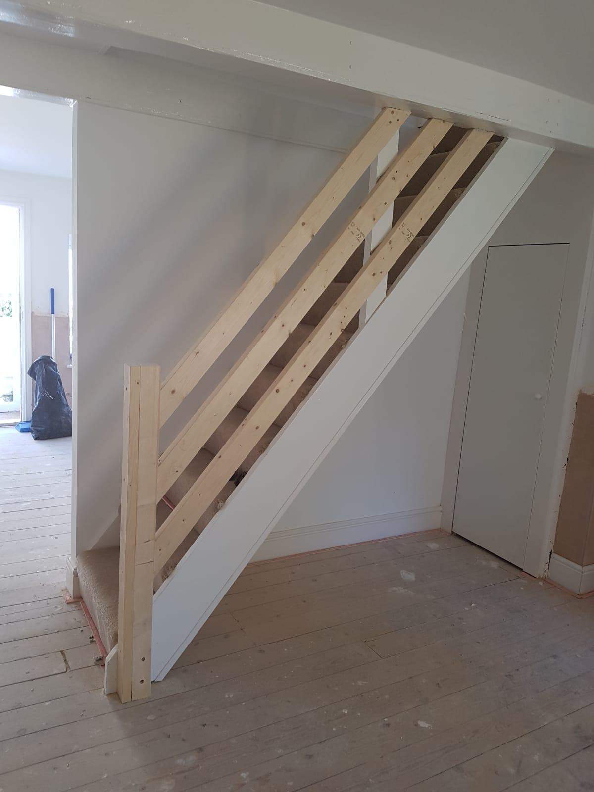 New banister Installation